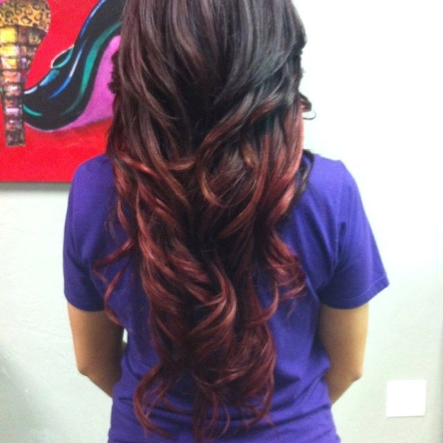 149 best soft ombre images on pinterest hair colors - Ombre hair braun ...