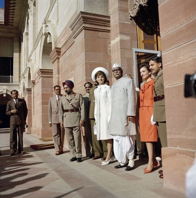 At the residence of the president of India in 1962.
