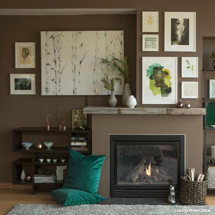 Найти дома декор для укладки вдохновение с рынка чеканились искусства гравюры. Посмотрите здесь, как мы создали наш Тихоокеанский Северо-Запад шикарной гостиной!