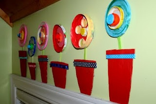"""I was looking for a fun Spring Art Project for my classroom...I love this """"recycled"""" art project that is so colorful.  I think my students will love it too!"""