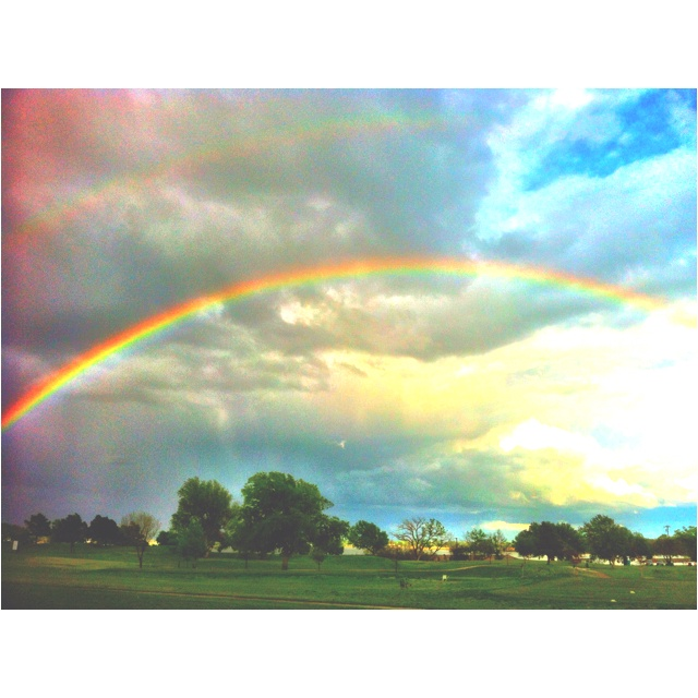 Double rainbow. Lincoln golf course, Oklahoma city...his promises are true!!!!