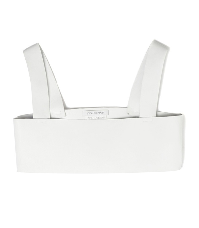 Style - Minimal + Classic: Leather Bra Top by J.W. Anderson