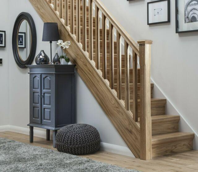 Best Solid Oak Stop Chamfered Stair Landing Balustrade 400 x 300
