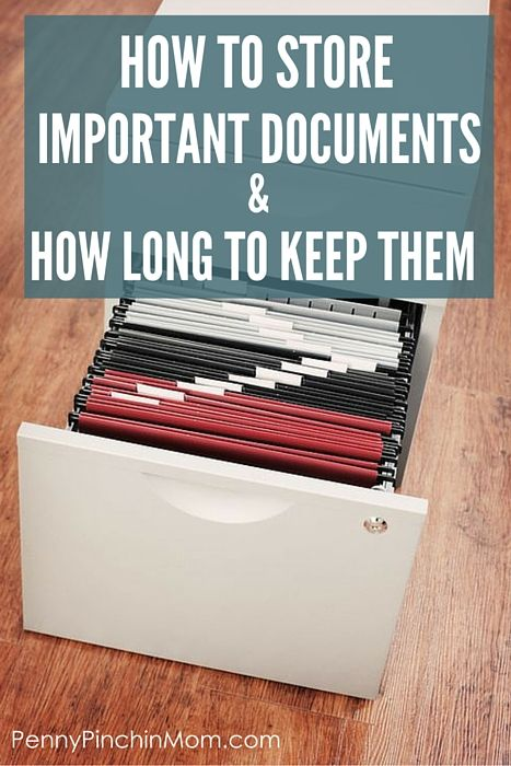How to Store Important Documents & How Long To Keep Them via @PennyPinchinMom