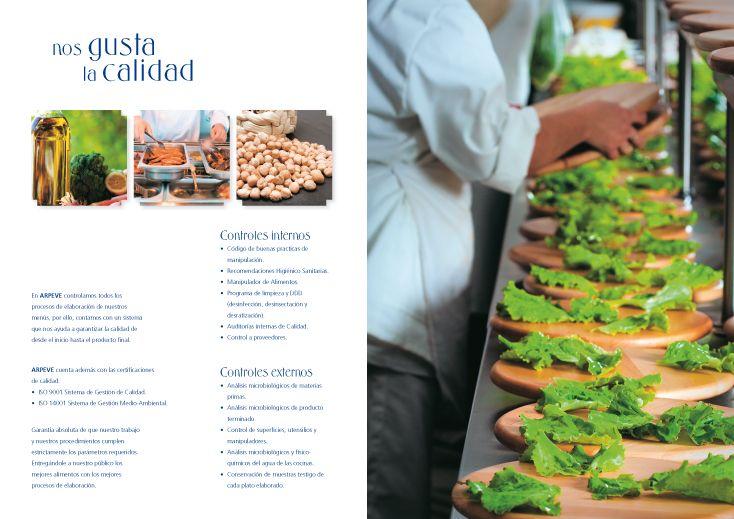 Diseño catálogo empresa catering para colectividades.