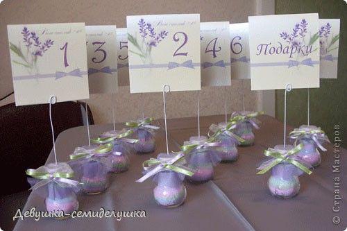 Декор предметов Свадьба Насыпание Лавандовая свадьба посадочные карточки для банкетных столов Проволока фото 1