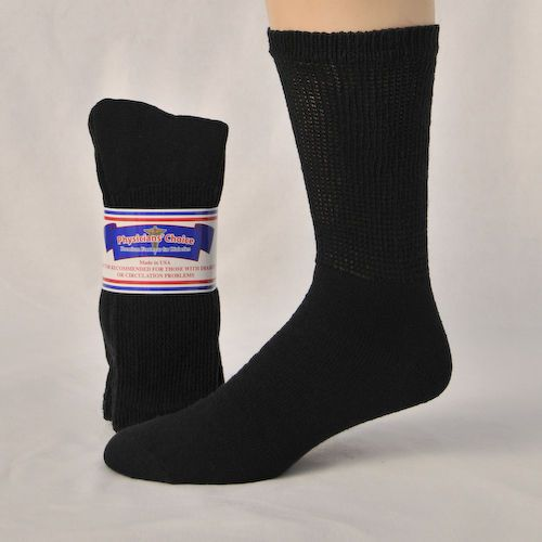 BLACK DIABETIC SOCKS FOR MEN~12 PRS loose fit ~NON BINDING~COMPFORTABLE~10-13 #choice #CasualCREW