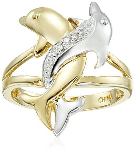 10k Two-Tone Gold Diamond Accent Intertwined Dolphin Ring, Size 5 Amazon Collection http://www.amazon.com/dp/B002Q0X2YS/ref=cm_sw_r_pi_dp_X3X9wb10Q1YYK