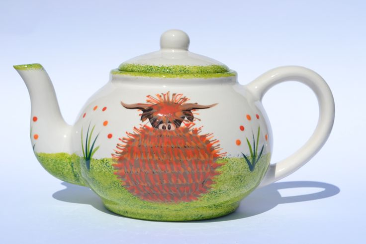 Teapot - hand painted in Scotland