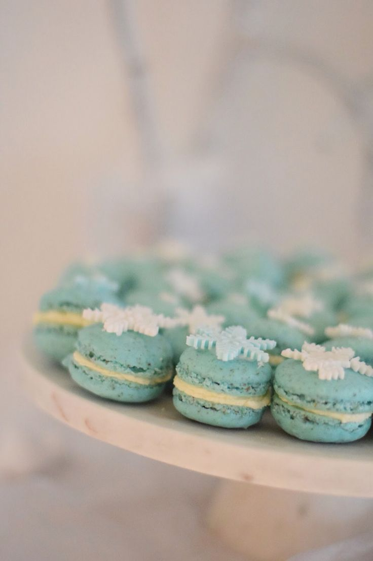Frozen party macaroons