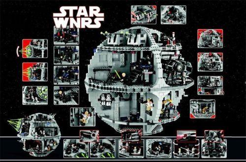 Star-Wars-10188-USC-Estrella-de-la-Muerte-Death-Star-compatible-fits-Lego