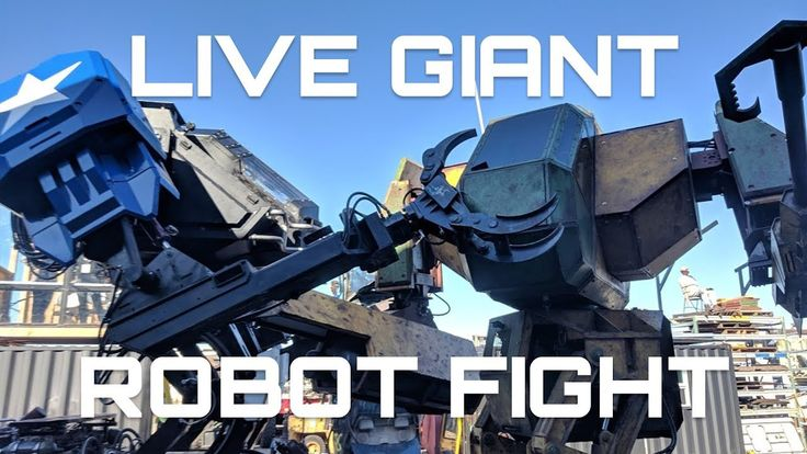 LIVE GIANT ROBOT FIGHT! This is the first livestreamed battle between two giant combat robots! Eagle Prime (12 tons) and a remote control Iron Glory (6 tons) went at it in the first of a series of test events where we try and figure out the rules and regulations to make a giant fighting robot sports league.