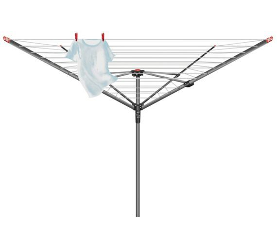 Buy Vileda 50m 4-Arm Ready to Use Outdoor Rotary Airer at Argos.co.uk - Your Online Shop for Washing lines and airers, Laundry and cleaning, Home and garden.
