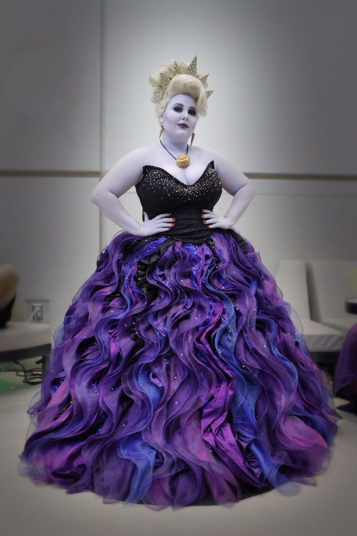Ursula from 'the little mermaid' cosplay, I like the texture and pattern of the dress. We could incorporate a similar thing into our ideas...