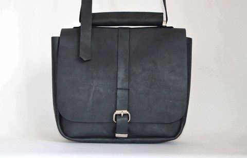 #1 Messenger Bag in Motorcycle Black | Amelia Boland