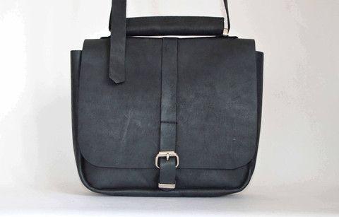#1 Messenger Bag in Motorcycle Black | Amelia Boland