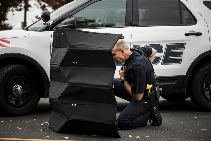 Bulletproof origami shield unfolds in seconds to protect cops from danger