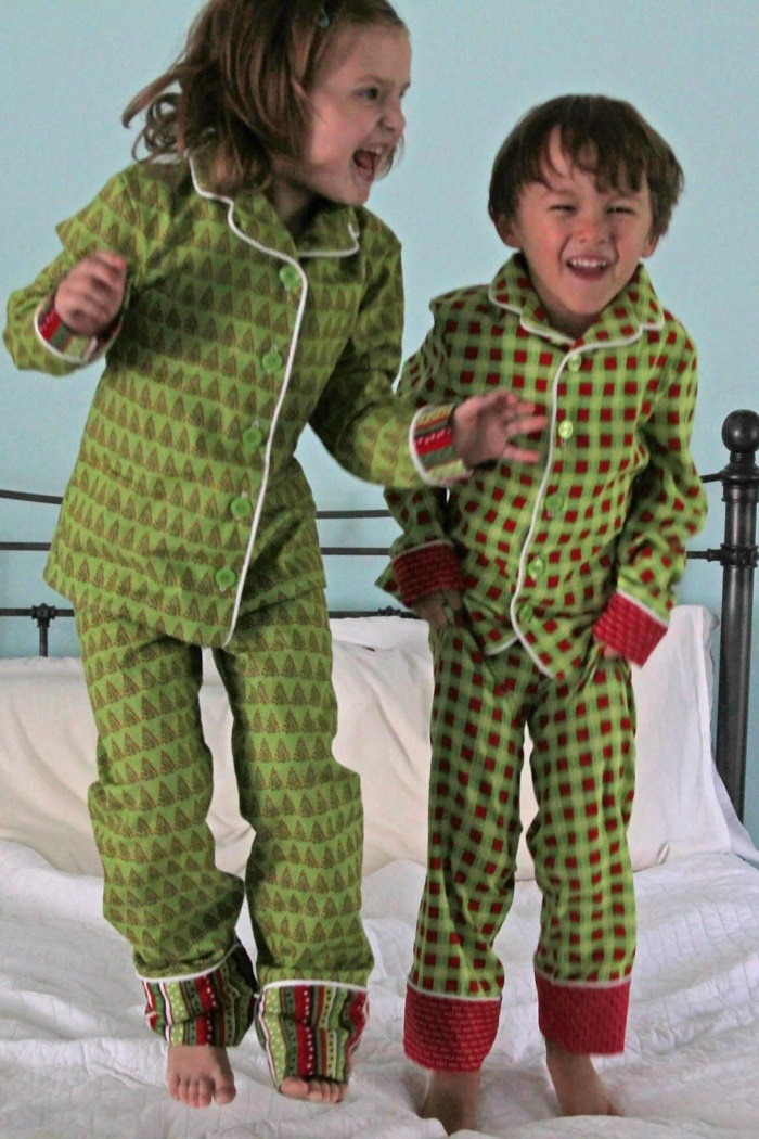 Holiday Pajama PDF Sewing Pattern Boys Girls Toddlers Sizes 18m 2T 3T 4T 5 6 7 8. $8.45, via Etsy.