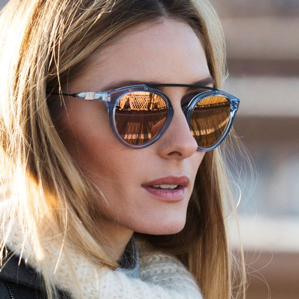 Olivia Palermo x Westward Leaning rose gold sunglasses collection