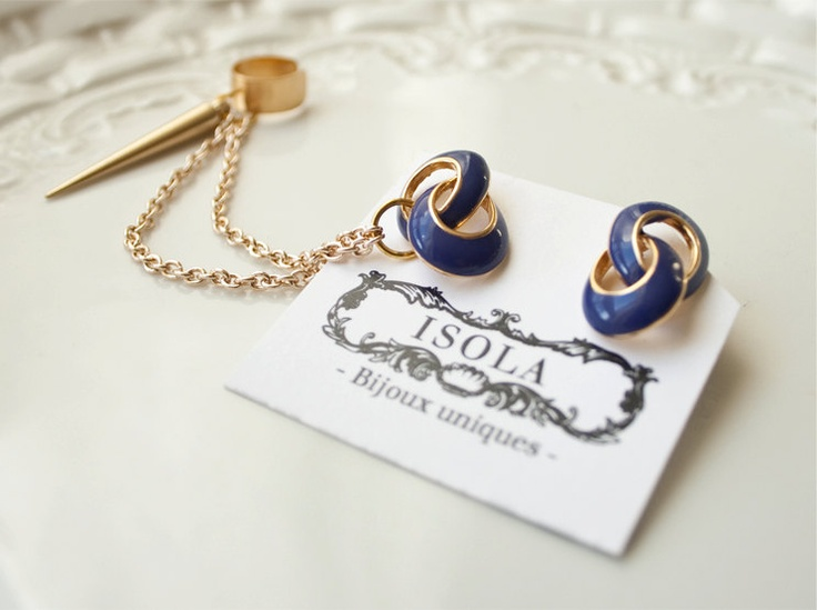 Hard Blue - Ear Cuff earrings. $21,00, via Etsy.