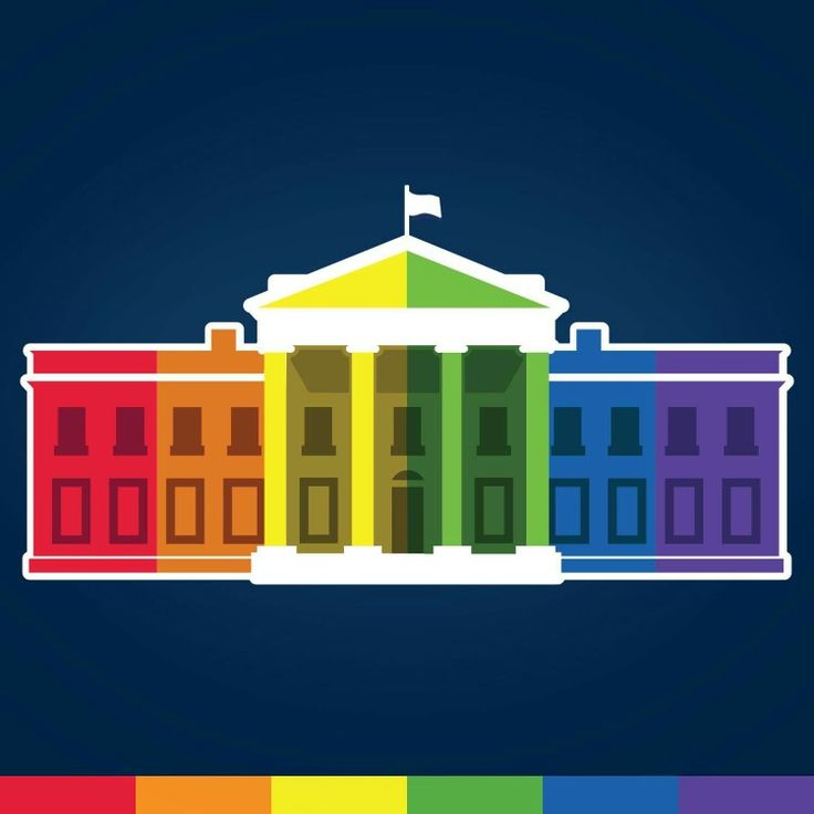 The White House's FB profile picture, 6/26/15, the day marriage equality became official!