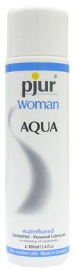 Pjur Body Glide Women Aqua - 100ml Designed especially for women.  Water based formula  Latex and rubber compatible. Use for Latex or rubber shining.  Tasteless, odorless, and fragrance-free  Hypo-allergenic  Excellent Non-staining massage oil  Feels silky and smooth and never dries out.  Allows the skin to breathe without blocking pores.