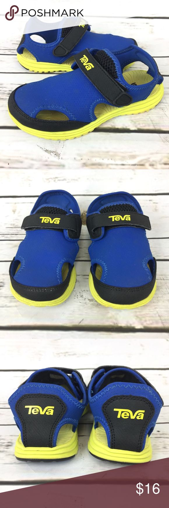 Teva Sandals Toddler Blue Closed Toe Sport Shoes Teva Sandals Size 13 Boys Toddler Blue Closed Toe Sport Water. In great condition. View pictures for more details. 3A4 Teva Shoes Sandals & Flip Flops