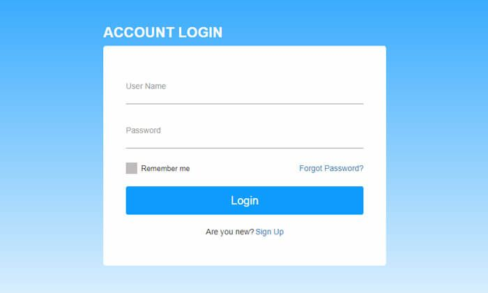 Bootstrap Simple Login Form Free Template Login Form Login Page Design Template Free