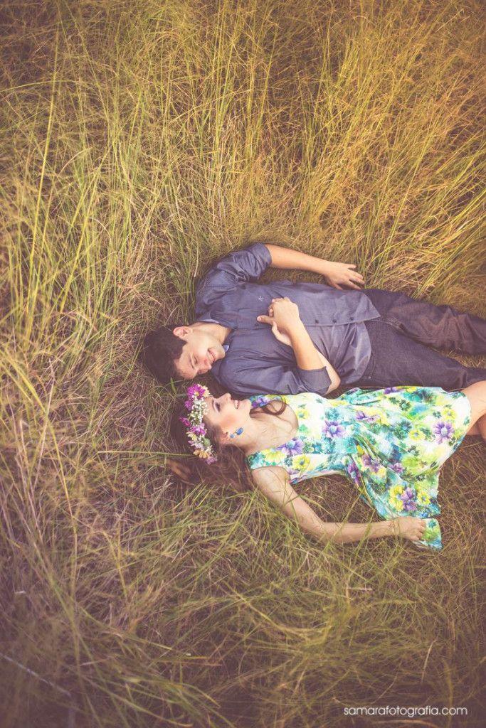 Ensaio romântico casal natureza