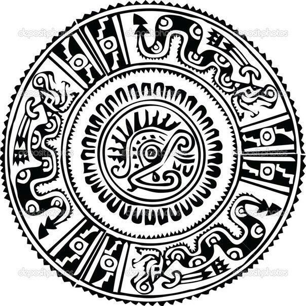 Символы индейцев Майя