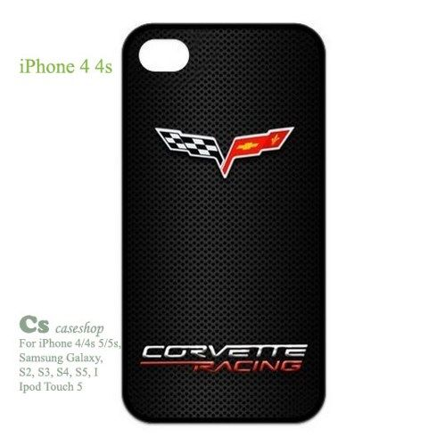 Corvette Racing Two Flags Unique Rubber Case for Apple Iphone 4 4S | 5STAR - Accessories on ArtFire