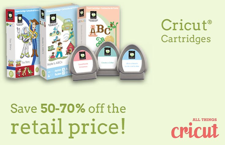 50-70% off cartridges  allthingscricut.com