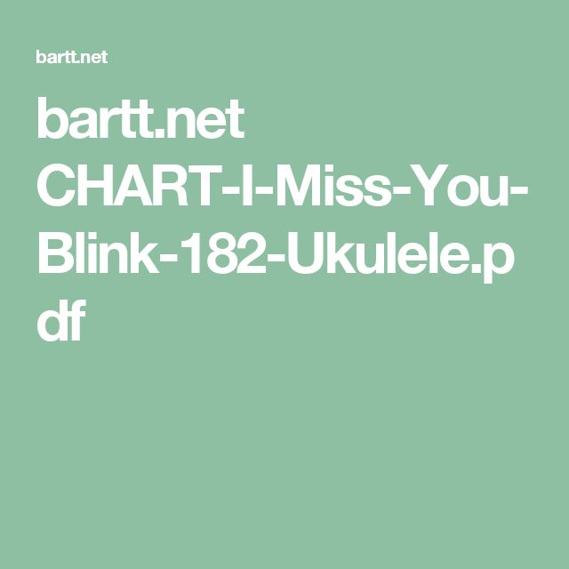 bartt.net CHART-I-Miss-You-Blink-182-Ukulele.pdf