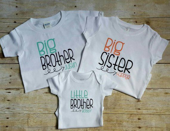 """Teal ~NEW~ /""""BIG Sister/"""" Baby Girls Graphic Shirt 18-24 Months 2T 3T 4T 5T Gift"""