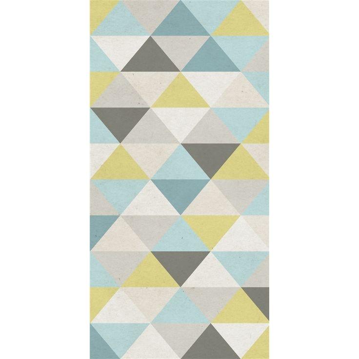 Papier peint intissé triangle, de la marque Lé PAPIERS DE NINON Lé de papier peint unique . Créations exclusives renouvelées tous les 6 mois. Papier peint intissé 150g , - fabrication entièrement f