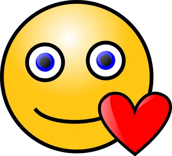 Love heart smiley clip art vector clip art online royalty free