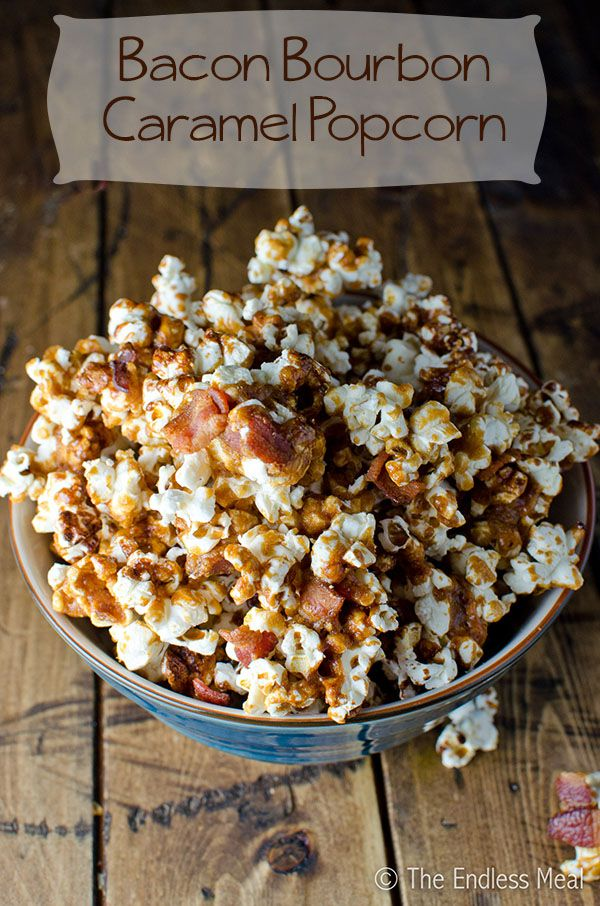 Bacon Bourbon Caramel Popcorn - with 1/4 tsp cayenne
