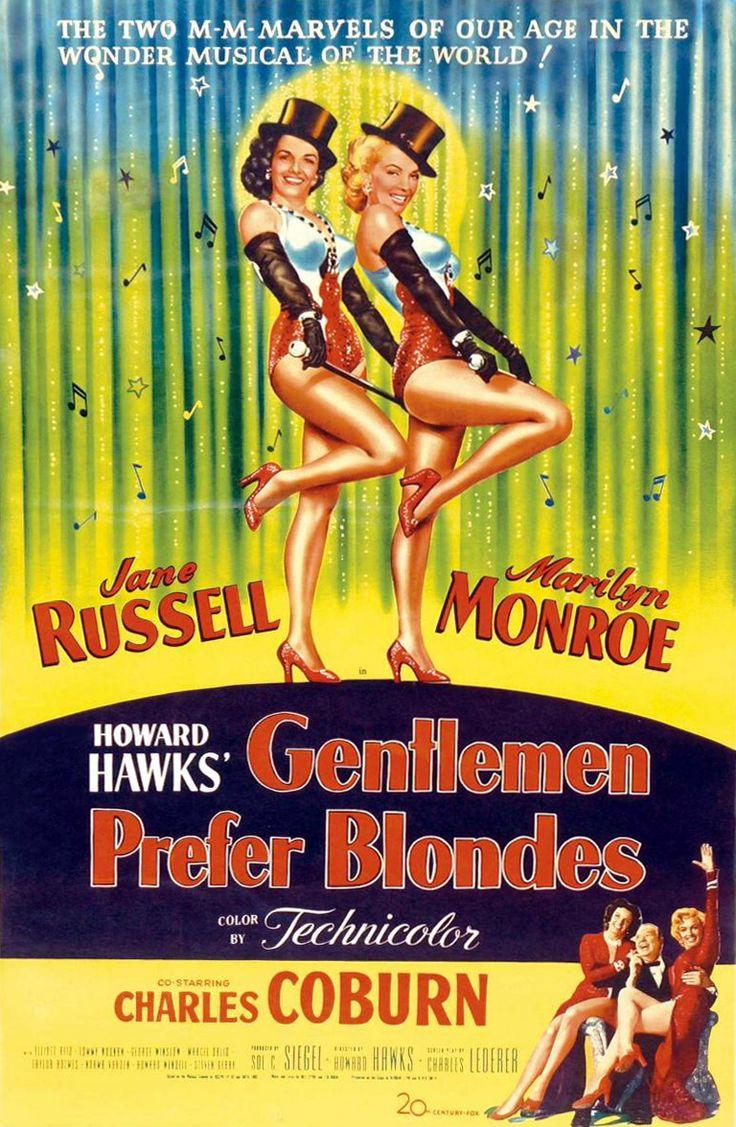 GENTLEMEN PREFER BLONDES (1953) - Jane Russell - Marilyn Monroe - Charles Coburn - Directed by Howard Hawks - 20th Century-Fox.