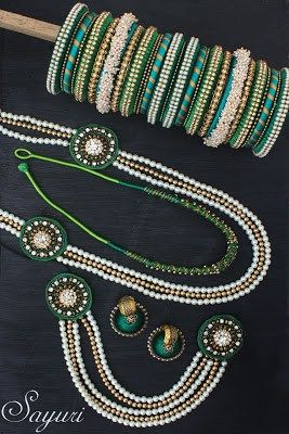 Silk thread bridal Jewellery