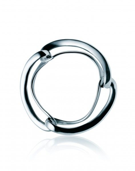 Infinity silver bangle