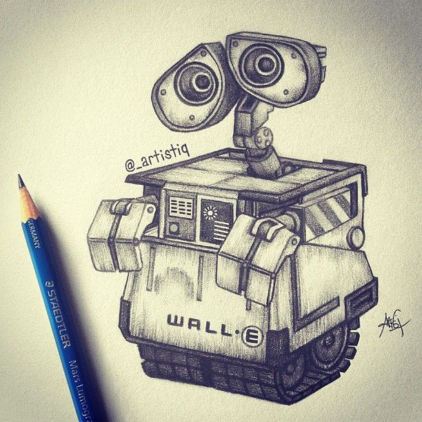 Wall E Drawing By Artistiq Art Instagram Walle Disney