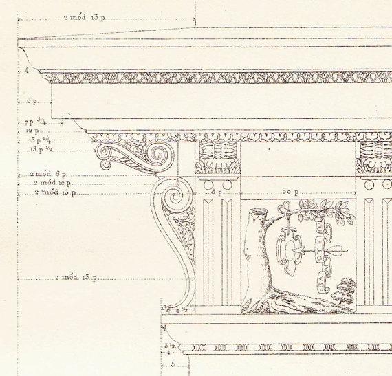 Best Architecture Vignola Prints Vintage Images On Pinterest