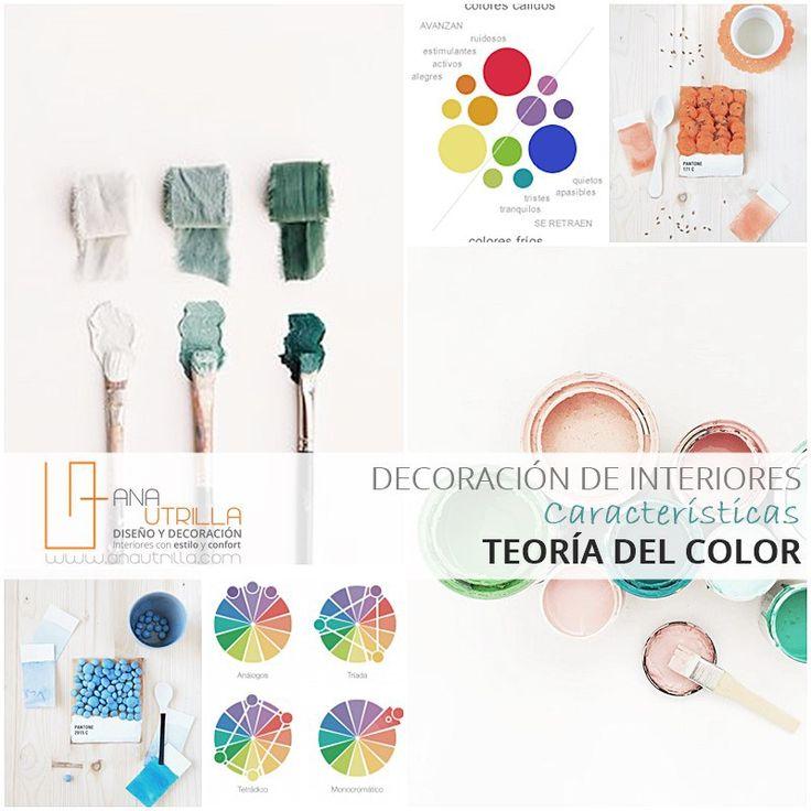 EL COLOR EN DECORACIÓN DE INTERIORES, aprende a combinar colores según su tonalidad. Teoría del color por @Utrillanais www.anautrilla.com