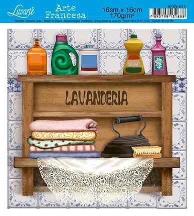 papel decoupage arte francesa lavanderia afxv-011 -   litoar