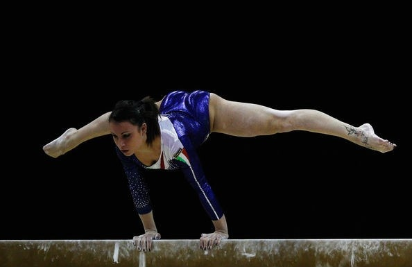 Italian Championships 2012 via the Couch Gymnast - Brixia's Vanessa Ferrari (56,85) won the Italian nationals for the sixth time over Carlotta Ferlito (55,95) and junior star Elisa Meneghini (55,00). Vanessa also won the floor final with a 14,3, while Giorgia Campana won bars 14,20 and Carlotta Ferlito won beam, with a 14,90. Erika Fasana was out due a little problem on her finger, but she will be ready!