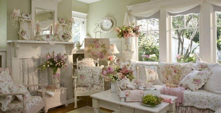 d co et meubles shabby chic dans le salon 55 id es vintage tr s inspirantes d coration