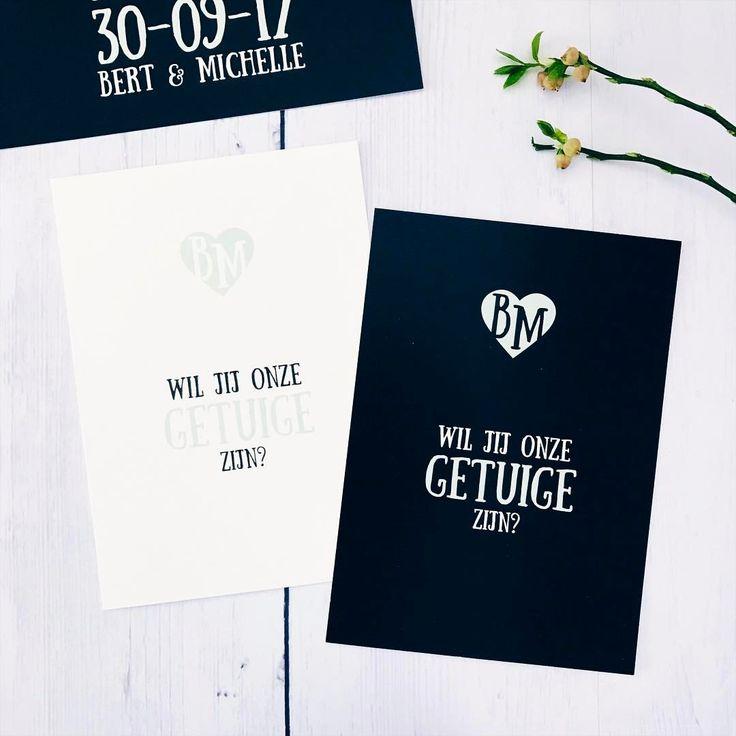 Vraag de getuigen met een speciale kaart • weddingstationery • studiosproet