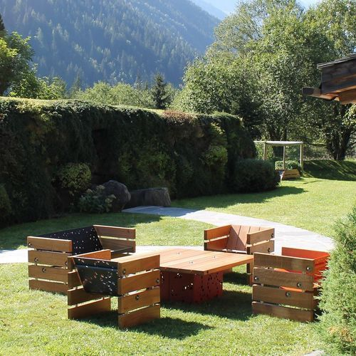 Panca da giardino / moderna / in legno / in alluminio CD-A PaulChx