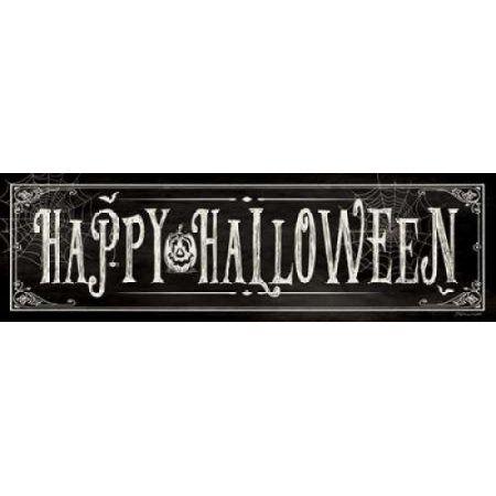 Happy Halloween II Canvas Art - Stephanie Marrott (8 x 24)