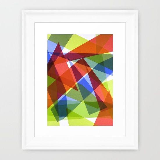 Angled Framed Art Print